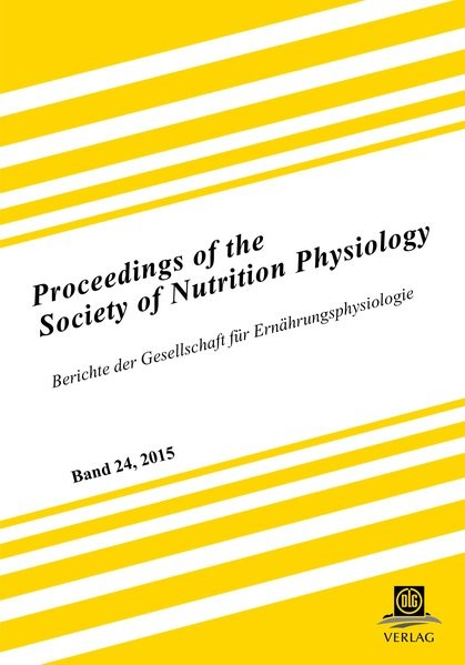 Abbildung von Gesellschaft für Ernährungsphysiologie | Proceedings of the Society of Nutrition Physiology Band 24 | 2015