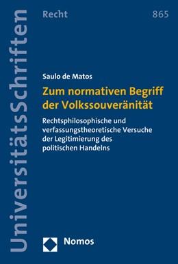 Abbildung von de Matos | Zum normativen Begriff der Volkssouveränität | 1. Auflage | 2015 | 865 | beck-shop.de