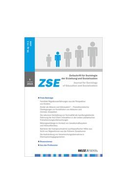 Abbildung von ZSE - Zeitschrift für Soziologie der Erziehung und Sozialisation | 39. Jahrgang | 2019