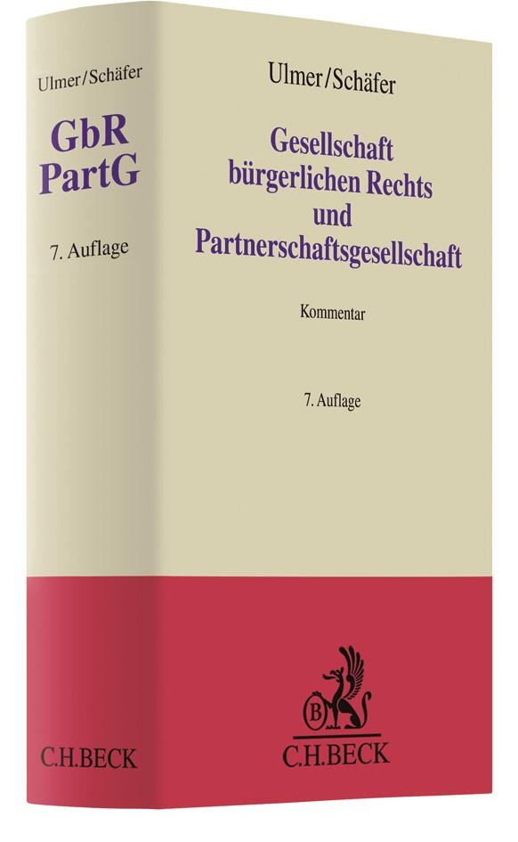 Gesellschaft bürgerlichen Rechts und Partnerschaftsgesellschaft: GbR PartG | Ulmer / Schäfer | Buch (Cover)