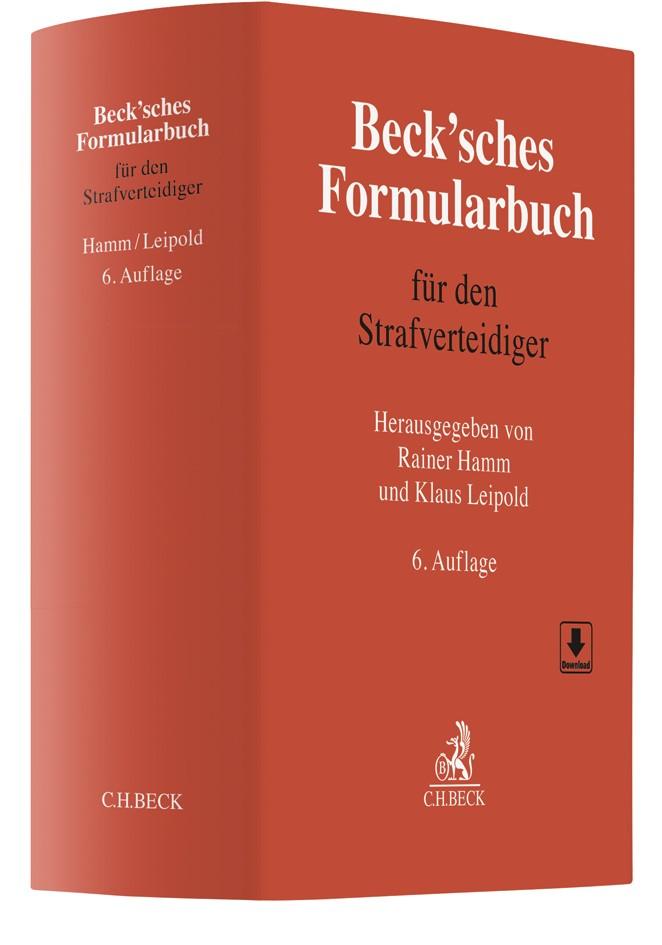 Beck'sches Formularbuch für den Strafverteidiger | 6., vollständig neubearbeitete Auflage, 2018 | Buch (Cover)