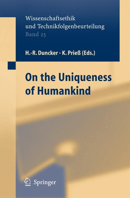 On the Uniqueness of Humankind | Duncker / Prieß | 2005, 2014 | Buch (Cover)