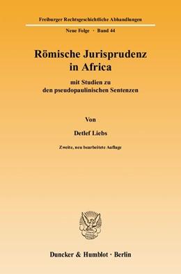 Abbildung von Liebs   Römische Jurisprudenz in Africa   2., neu bearb. Aufl.   2004   mit Studien zu den pseudopauli...   44