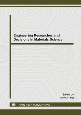 Abbildung von Yang | Engineering Researches and Decisions in Materials Science | 2015 | Selected, peer reviewed papers... | Volume 1098