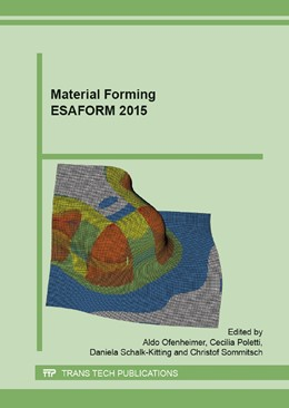 Abbildung von Ofenheimer | ESAFORM 2015 | 2015 | Selected, peer reviewed papers...