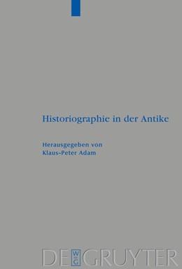 Abbildung von Adam | Historiographie in der Antike | 2008 | 373