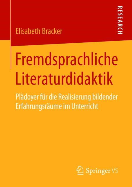 Fremdsprachliche Literaturdidaktik   Bracker   2015, 2015   Buch (Cover)