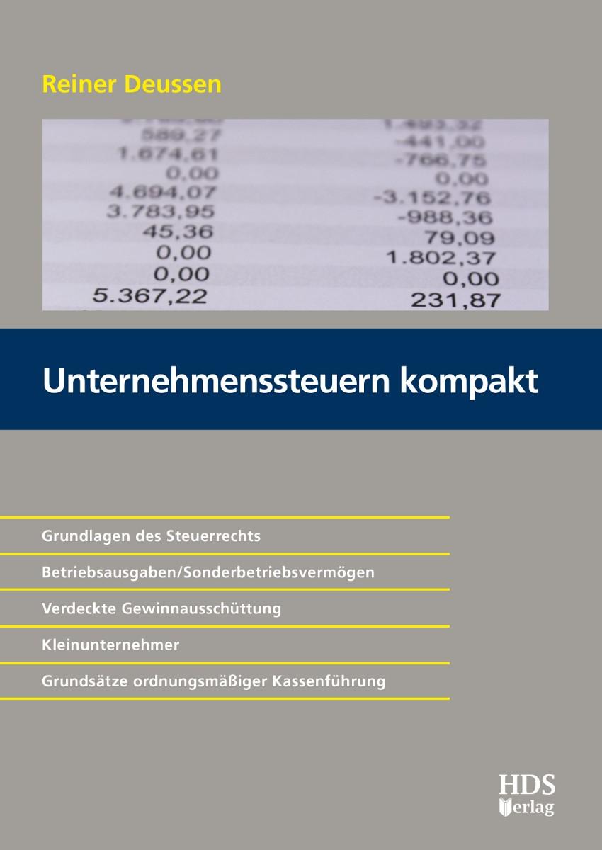 Unternehmenssteuern Kompakt | Deussen, 2018 | Buch (Cover)
