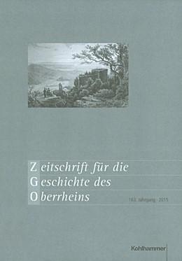 Abbildung von Zimmermann | Zeitschrift für die Geschichte des Oberrheins | 2016 | 163. Jahrgang (2015) | 163