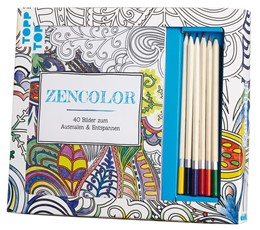 Abbildung von Kreativ-Set Zencolor (Ausmalen für Erwachsene) | 2015 | Buch mit 40 Seiten zum Heraust...