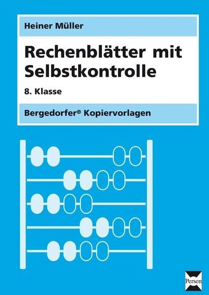 Rechenblätter mit Selbstkontrolle | Müller, 2015 (Cover)