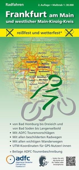 Abbildung von Frankfurt am Main und westlicher Main-Kinzig-Kreis. Radfahren 1 : 30 000 | 2., überarbeitete Auflage | 2015