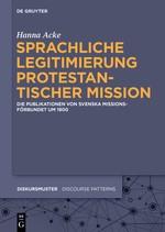 Sprachliche Legitimierung protestantischer Mission   Acke, 2015   Buch (Cover)