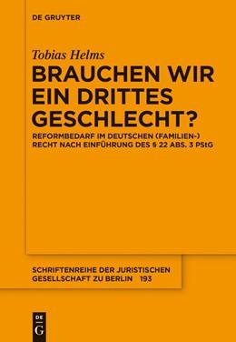 Abbildung von Helms | Brauchen wir ein drittes Geschlecht? | 1. Auflage | 2015 | 193 | beck-shop.de