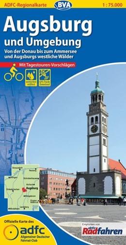 Abbildung von ADFC-Regionalkarte Augsburg und Umgebung mit Tagestouren-Vorschlägen 1 : 75 000 | 6. Auflage | 2015 | Von der Donau bis zum Ammersee...