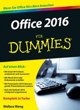 Abbildung von Wang   Office 2016 für Dummies   1. Auflage   2016   beck-shop.de