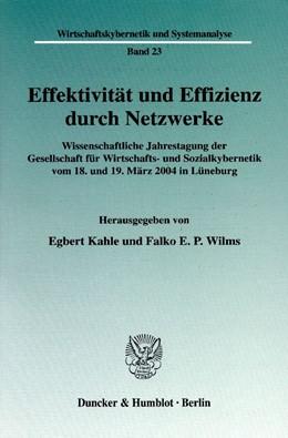 Abbildung von Kahle / Wilms | Effektivität und Effizienz durch Netzwerke. | 2005 | Wissenschaftliche Jahrestagung... | 23