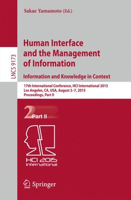 Abbildung von Yamamoto | Human Interface and the Management of Information. Information and Knowledge in Context | 2015 | 2015 | 17th International Conference,...