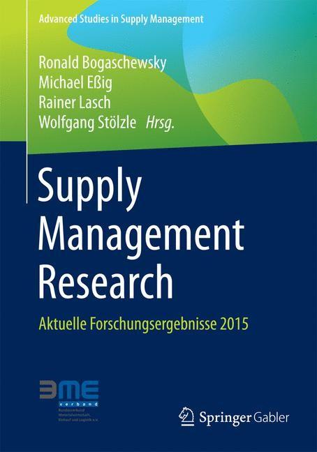 Abbildung von Bogaschewsky / Eßig / Lasch / Stölzle | Supply Management Research | 2015 | 2015