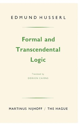 Abbildung von Husserl | Formal and Transcendental Logic | Ninth Edition | 1977