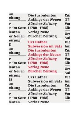Abbildung von Hafner | Subversion im Satz | 1. Auflage | 2015 | beck-shop.de