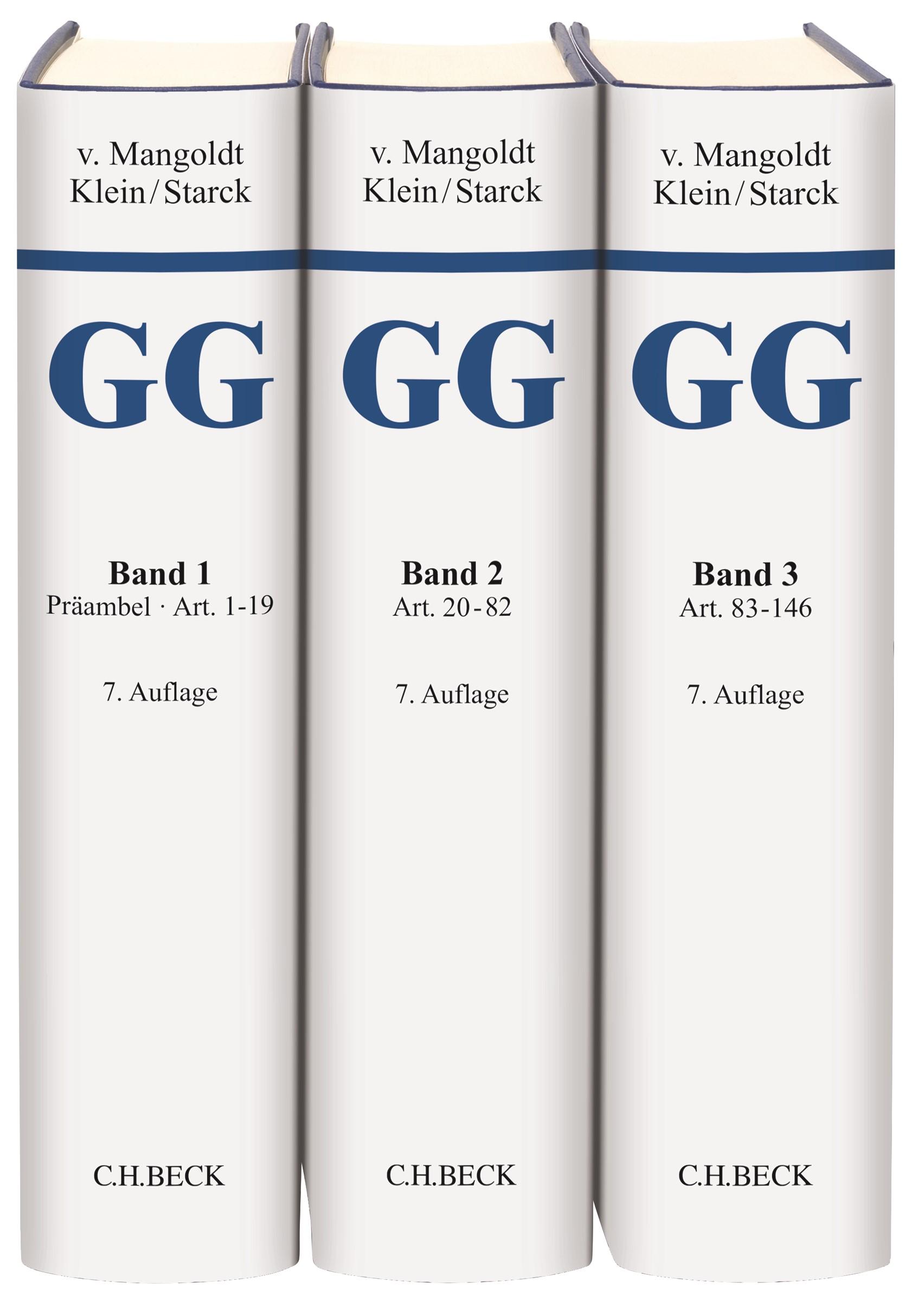 Kommentar zum Grundgesetz: GG | v. Mangoldt / Klein / Starck | 7. Auflage, 2018 | Buch (Cover)