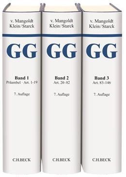 Abbildung von v. Mangoldt / Klein | Kommentar zum Grundgesetz: GG | 7. Auflage | 2018 | beck-shop.de