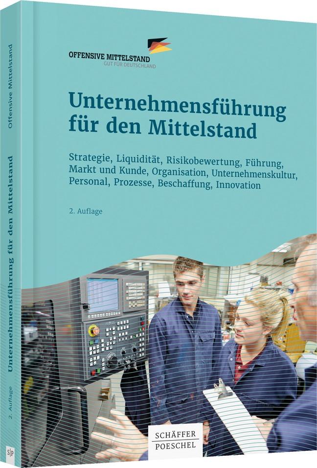 Unternehmensführung für den Mittelstand | Offensive Mittelstand | 2. überarbeitete Auflage, 2016 | Buch (Cover)