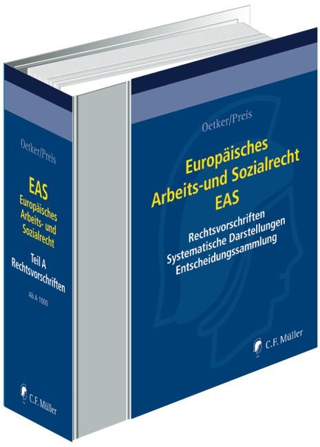 Europäisches Arbeits- und Sozialrecht - EAS • ohne Aktualisierungsservice | Oetker / Preis | Loseblattwerk mit 203. Aktualisierung (Cover)