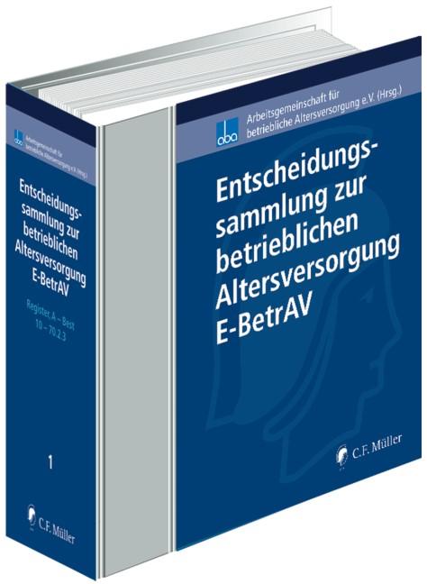 Handbuch und Entscheidungssammlung zur betrieblichen Altersversorgung, Entscheidungssammlung - ohne Aktualisierungsservice   aba - Arbeitsgemeinschaft für betriebliche Altersversorgung e.V. (Hrsg.)   Loseblattwerk mit 159. Aktualisierung (Cover)