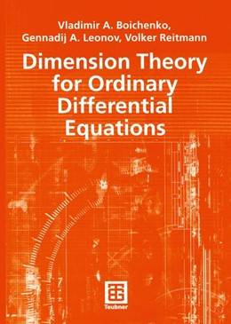 Abbildung von Boichenko / Leonov / Reitmann | Dimension Theory for Ordinary Differential Equations | 2005 | 141
