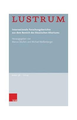 Abbildung von Deufert / Weißenberger   Lustrum Band 56 – 2014   1. Auflage   2015   beck-shop.de