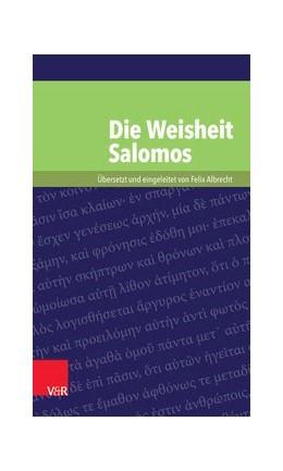 Abbildung von Albrecht | Die Weisheit Salomos | Aufl. | 2015