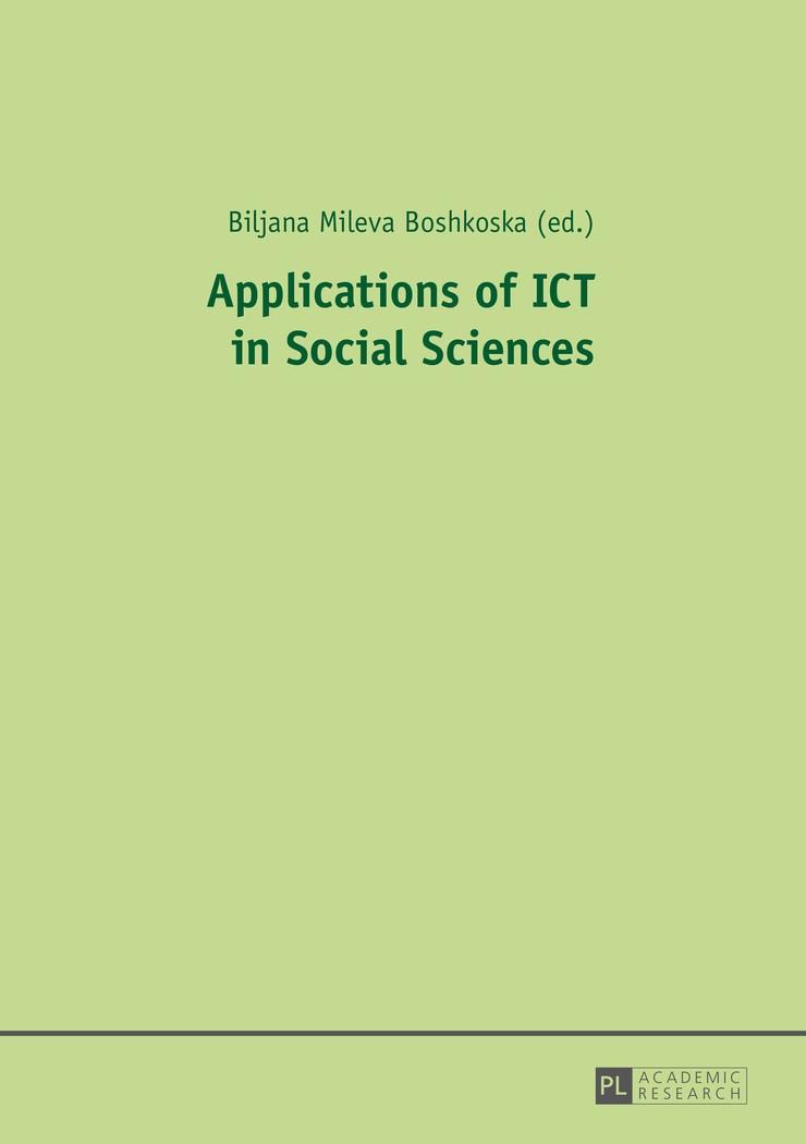 Applications of ICT in Social Sciences | Boshkoska, 2015 | Buch (Cover)