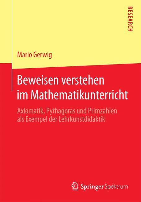 Abbildung von Gerwig | Beweisen verstehen im Mathematikunterricht | 2015 | 2015