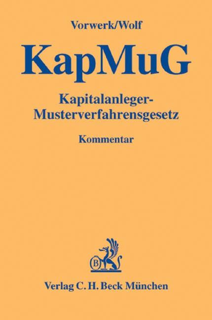 Kapitalanleger-Musterverfahrensgesetz: KapMuG   Vorwerk / Wolf   Buch (Cover)