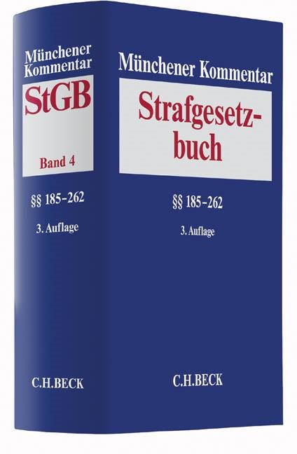 Münchener Kommentar zum Strafgesetzbuch: StGB, Band 4: §§ 185-262 | 3. Auflage, 2017 | Buch (Cover)