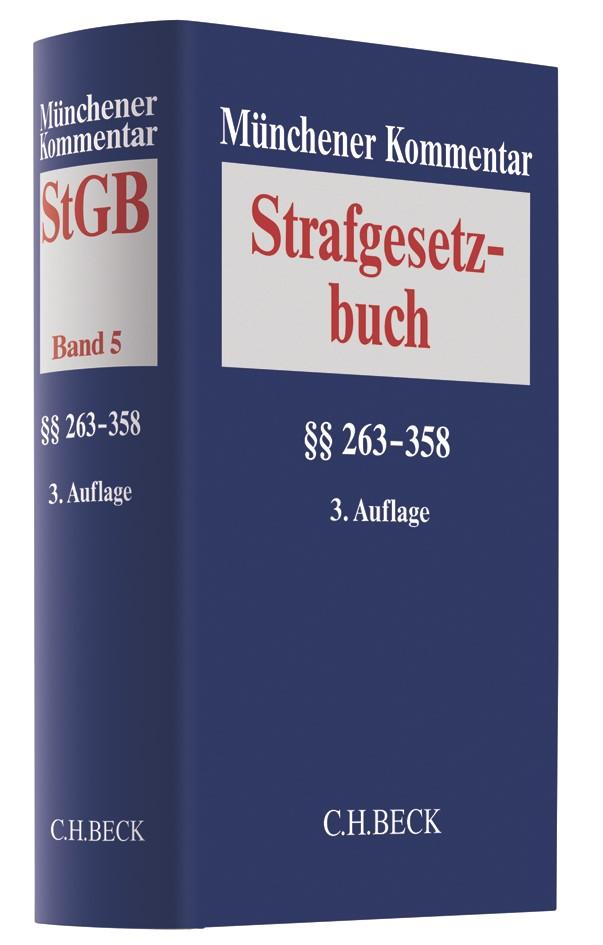 Münchener Kommentar zum Strafgesetzbuch: StGB, Band 5: §§ 263-358 | 3. Auflage, 2018 | Buch (Cover)