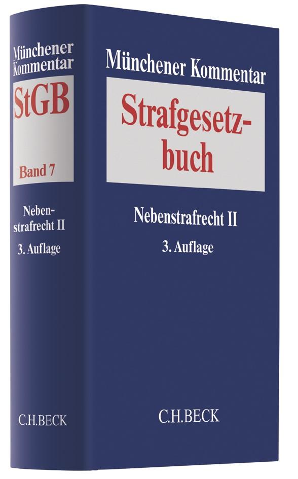 Münchener Kommentar zum Strafgesetzbuch: StGB, Band 7: Nebenstrafrecht II   3. Auflage, 2019   Buch (Cover)