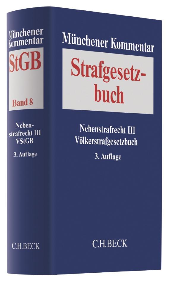 Münchener Kommentar zum Strafgesetzbuch: StGB, Band 8: Nebenstrafrecht III, Völkerstrafgesetzbuch | 3. Auflage, 2017 | Buch (Cover)