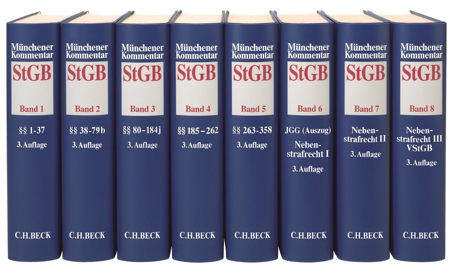 Münchener Kommentar zum Strafgesetzbuch: StGB | 3. Auflage, 2018 | Buch (Cover)