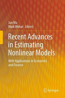 Abbildung von Ma / Wohar | Recent Advances in Estimating Nonlinear Models | 1. Auflage | 2013 | beck-shop.de