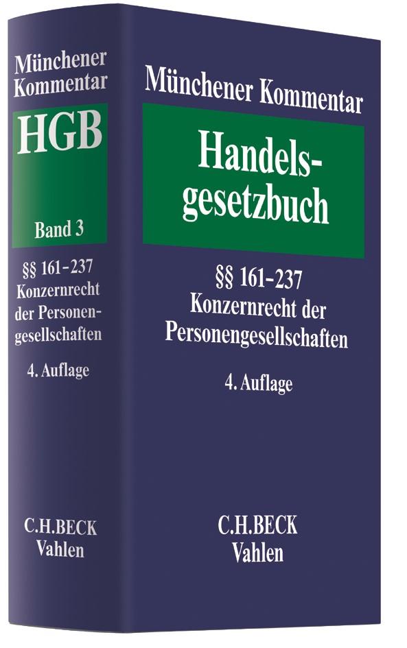 Münchener Kommentar zum Handelsgesetzbuch: HGB, Band 3: Zweites Buch. Handelsgesellschaften und stille Gesellschaft | 4. Auflage, 2018 | Buch (Cover)