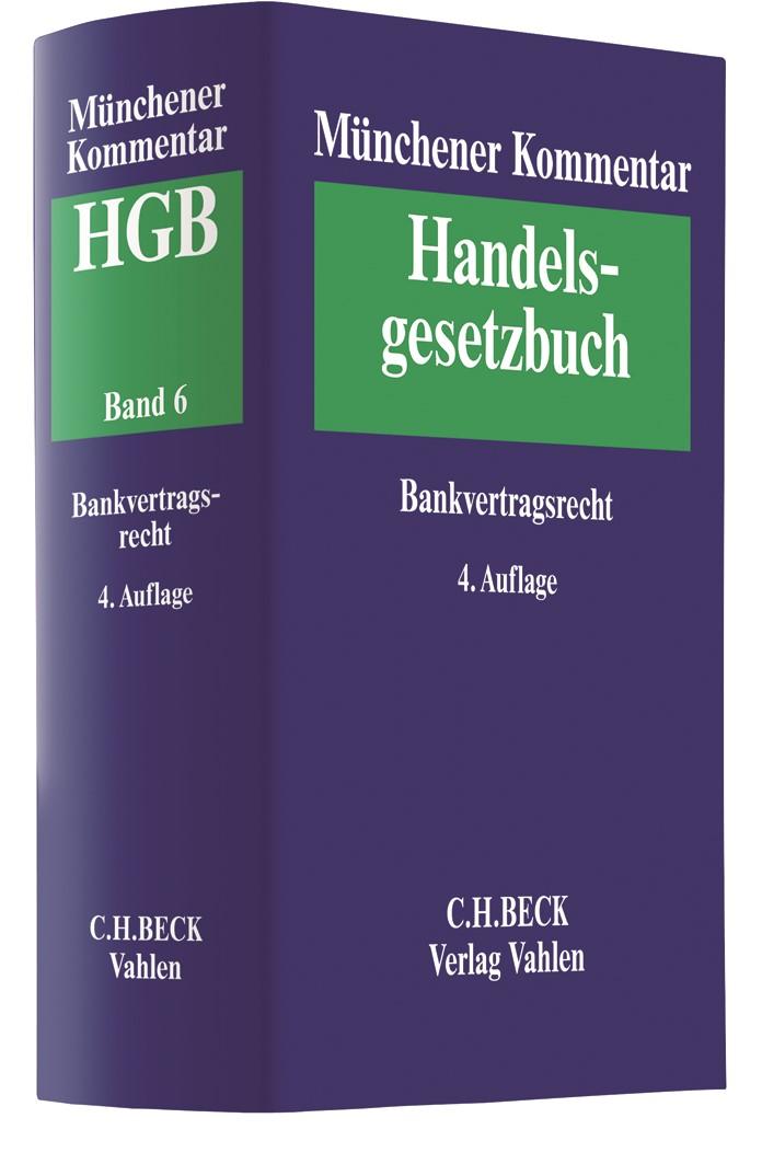 Münchener Kommentar zum Handelsgesetzbuch: HGB, Band 6: Bankvertragsrecht | 4. Auflage, 2019 | Buch (Cover)