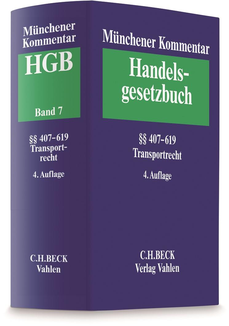 Münchener Kommentar zum Handelsgesetzbuch: HGB, Band 7: Transportrecht | 4. Auflage, 2019 | Buch (Cover)