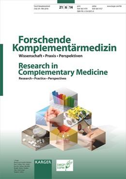 Abbildung von Kraft / Langhorst   Phytotherapy - New Developments and Insights into Practice / Phytotherapie - Neue Entwicklungen und Einsichten in die Praxis   2015   Special Topic Issue: Forschend...