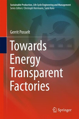 Abbildung von Posselt | Towards Energy Transparent Factories | 1st ed. 2016 | 2015