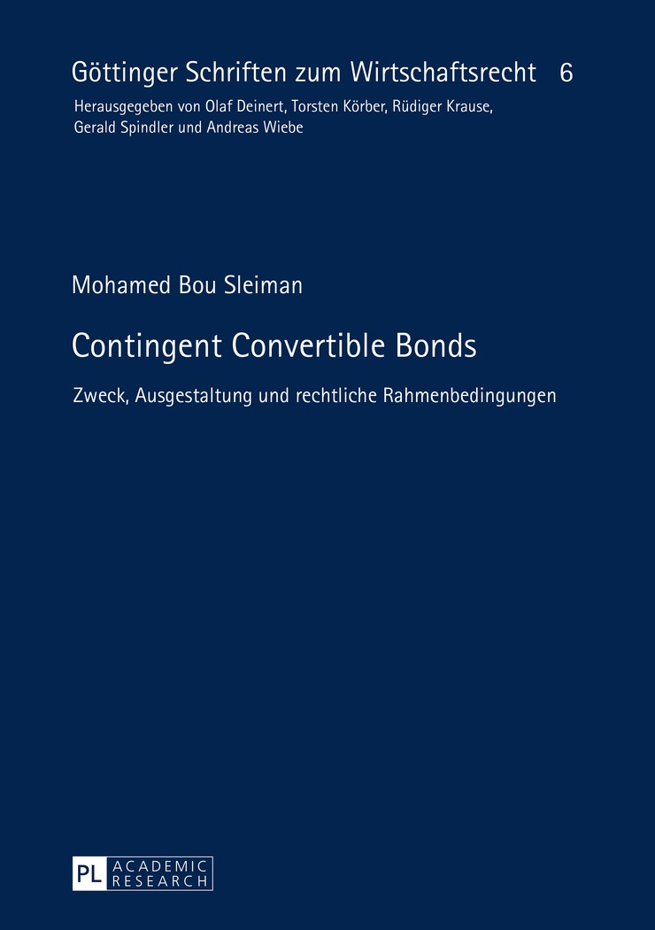 Contingent Convertible Bonds | Bou Sleiman, 2015 | Buch (Cover)