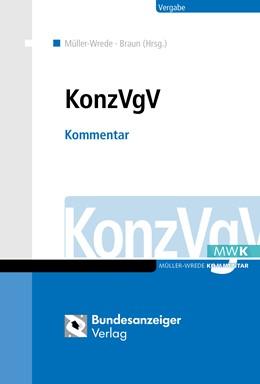Abbildung von Braun / Müller-Wrede   KonzVgV   1. Auflage   2018   beck-shop.de
