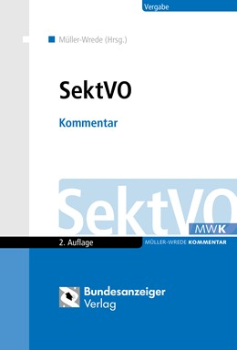 Abbildung von Müller-Wrede (Hrsg.) | SektVO | 2. Auflage | 2018 | beck-shop.de